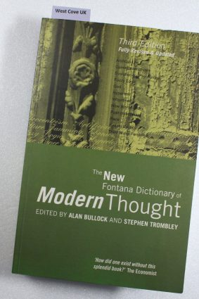 The New Fontana Dictionary of Modern Thought ISBN: 9780006863830