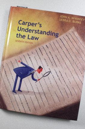 Carper's Understanding the Law by McKinsey John A.; Burke Debra ISBN: 9781285428420