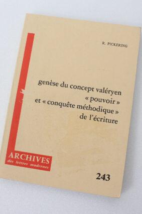 Gen?se du concept val?ryen pouvoir et conqu?te m?thodique de l'?criture (French Edition)  ISBN: 9782256904363